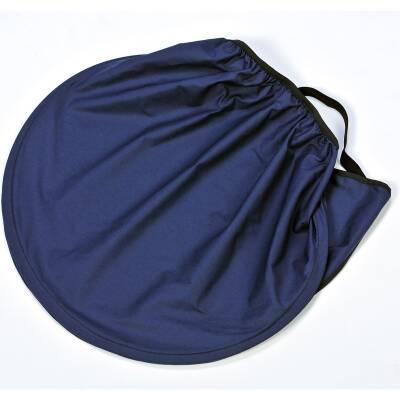 "Sonnensegel ""Kornblume"", halbkreisförmig, dunkelblau"